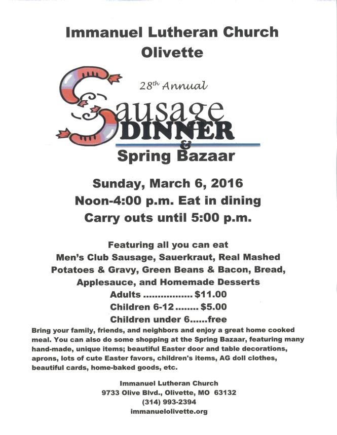 Immanuel Olivette Spring Bazaar
