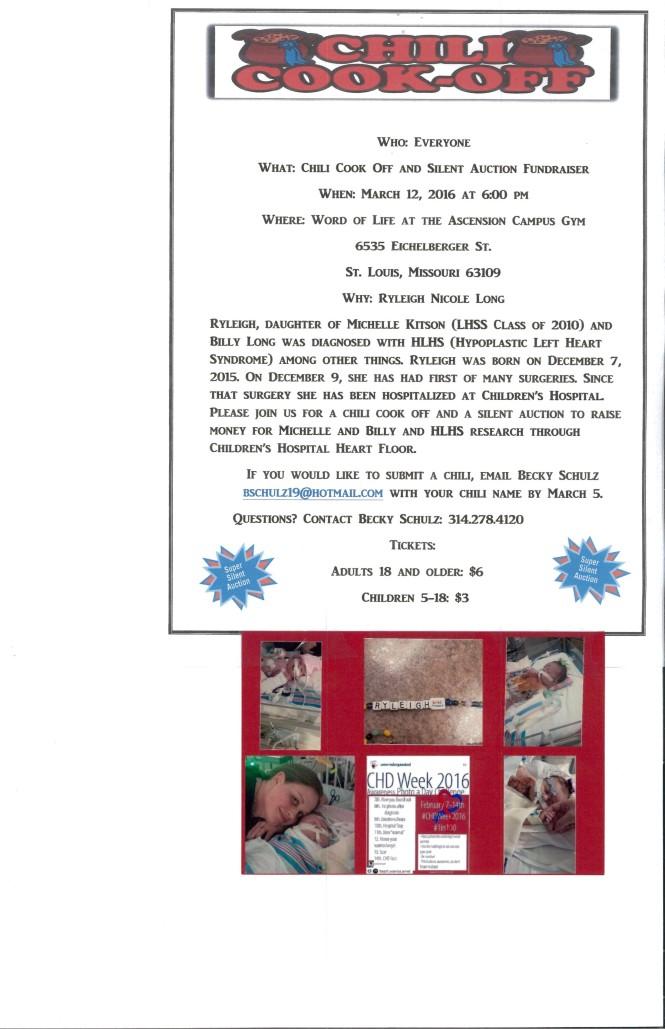 Chili Fundraiser HLHS