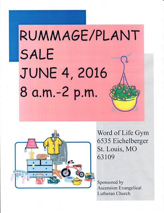 Ascension Rummage Sale