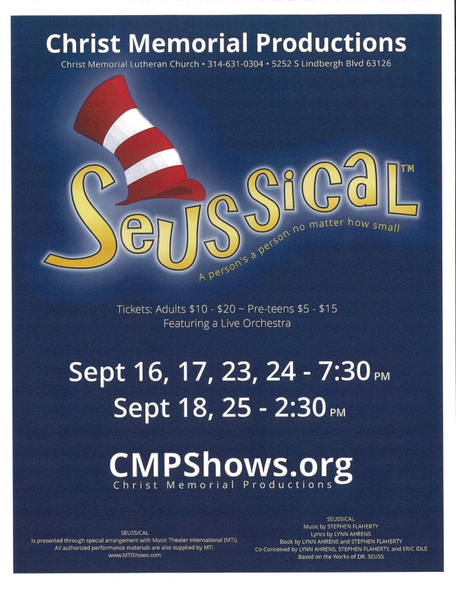 CMP Seussical poster