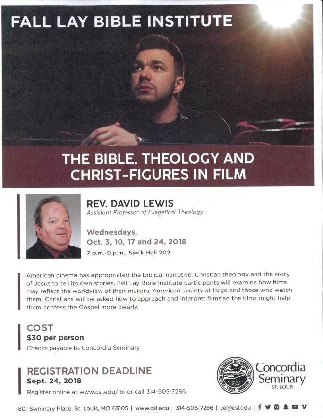 Lay Bible Institute Fall 2018
