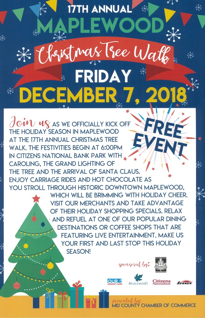 Christmas Tree Walk 2018