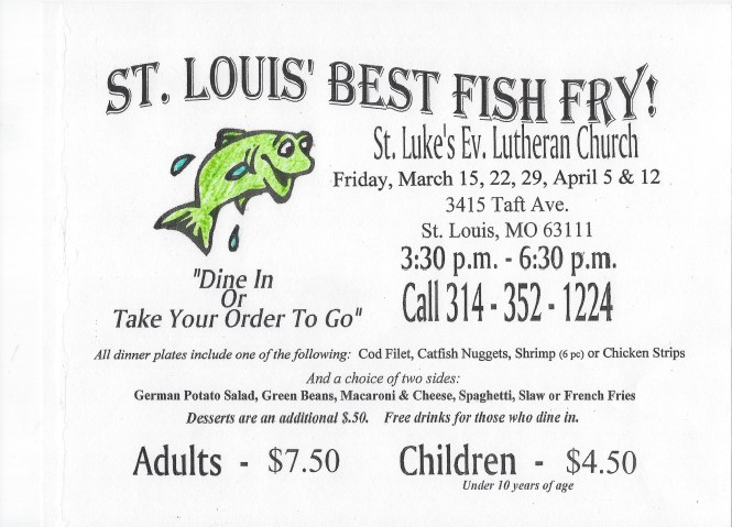 St Luke fish fry