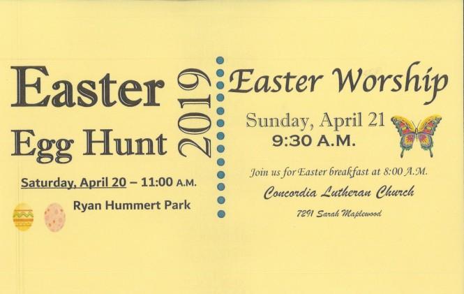 Easter 2019 flyer