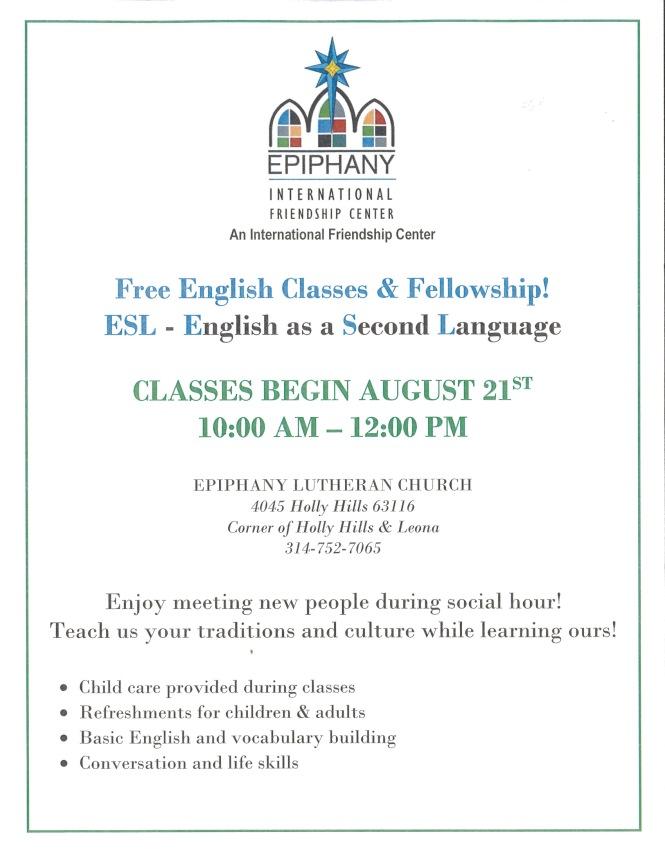Epiphany English Class